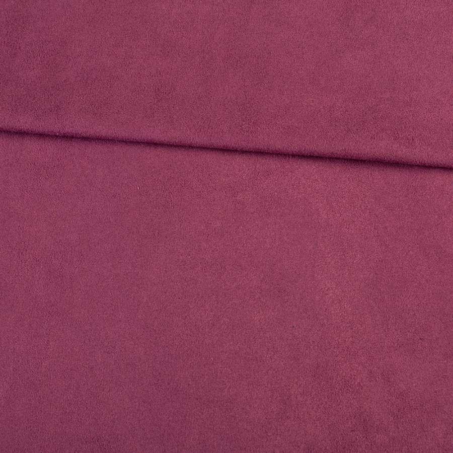 Замша стрейч фиолетовая, ш.152