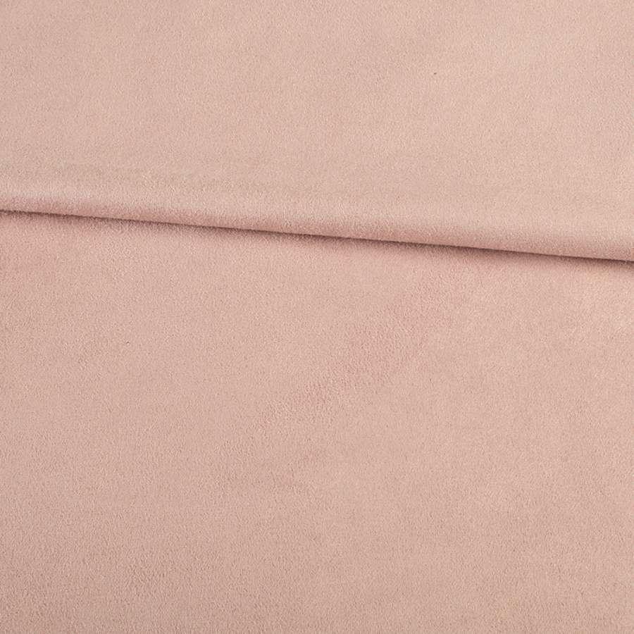 Замша стрейч розово-серая, ш.150