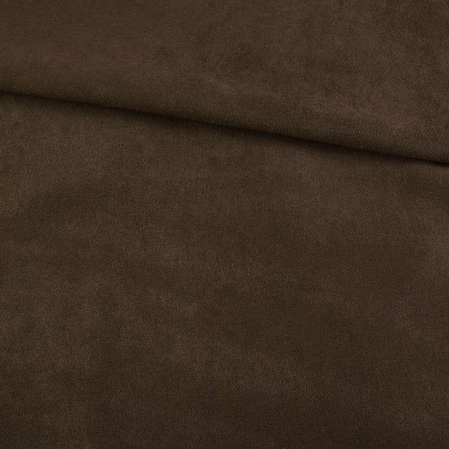 Замша коричневая темная, ш.150