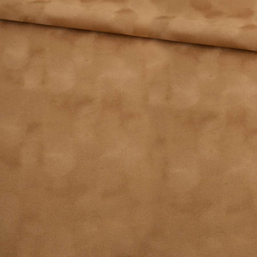 Замша флок темно-бежевая ш.150
