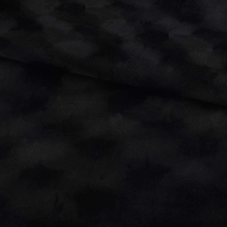 Замша флок черная ш.150