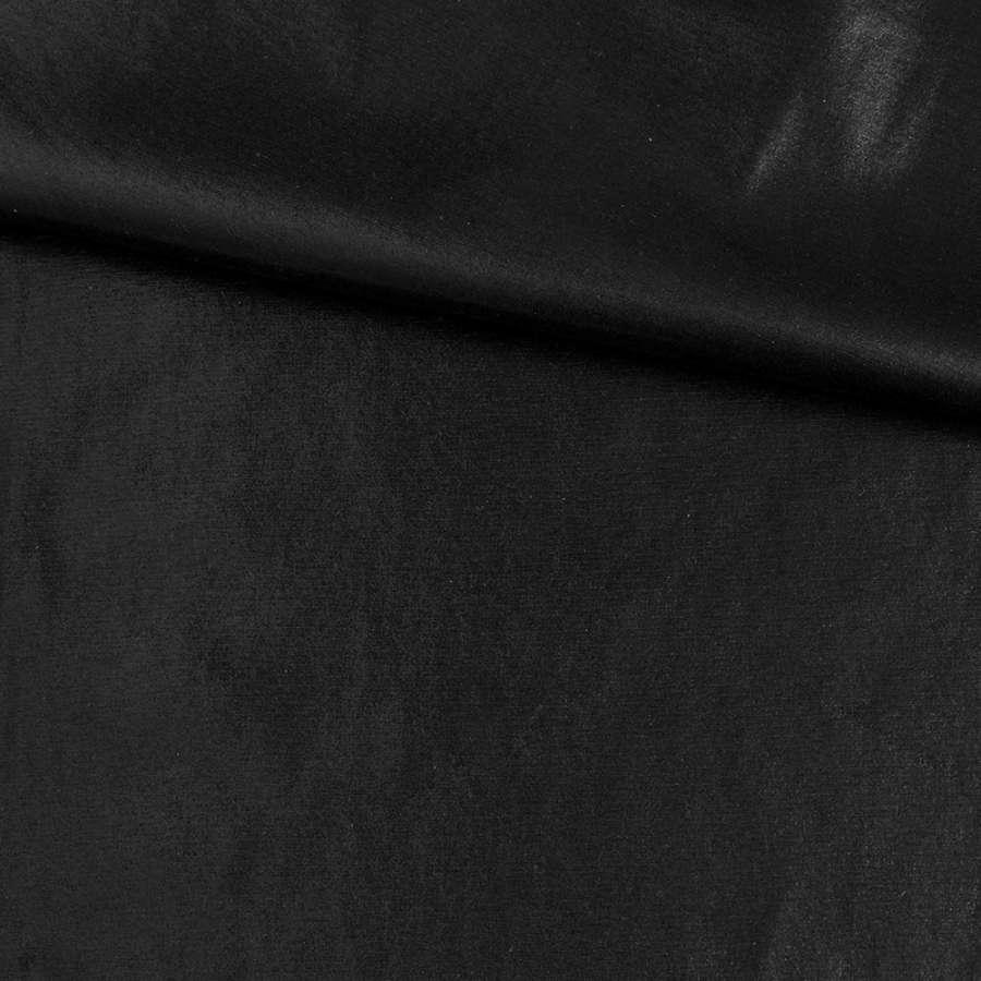 Замша искусственная с лазерным напылением черная, ш.145
