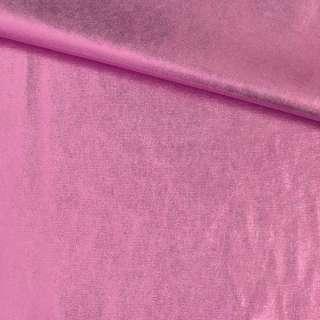 Замша з лазерним напиленням рожева, ш.140