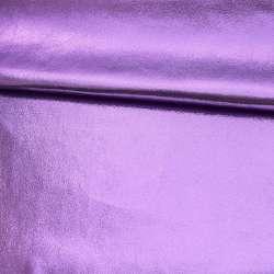 Замша штучна з лазерним напиленням бузкова, ш.145