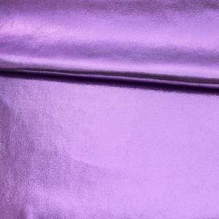 Замша з лазерним напиленням бузкова, ш.145