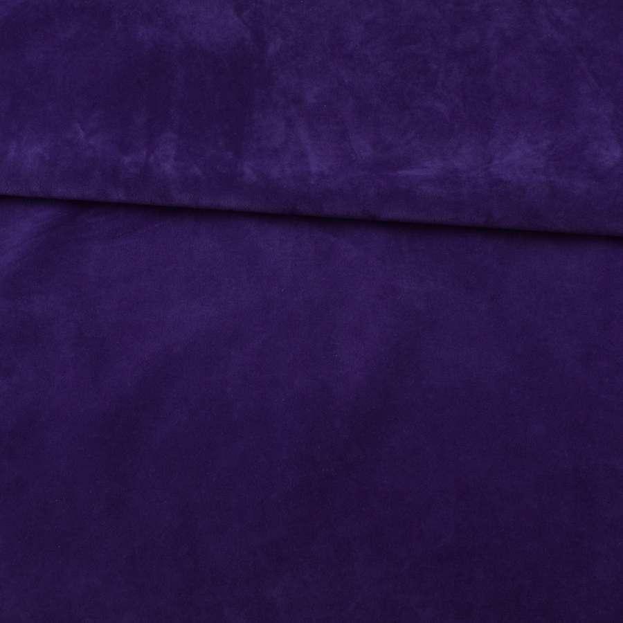 Замша флок мягкая синяя, ш.145