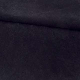 Замша флок мягкая черная, ш.155