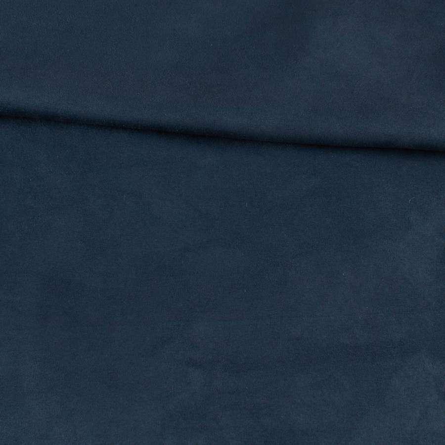 Замша на дайвинге синяя темная, ш.154