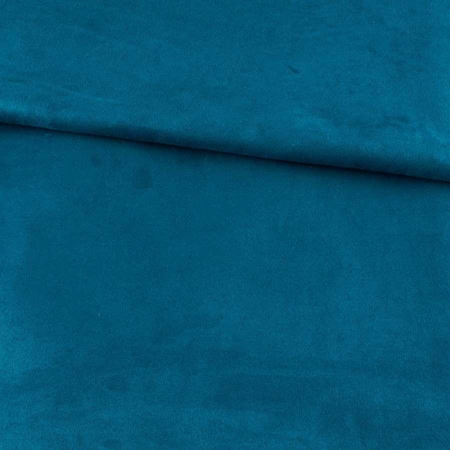 Замша на дайвинге лазурная темная, ш.154