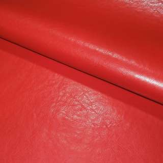 Шкіра штучна червона на флісі ш.140