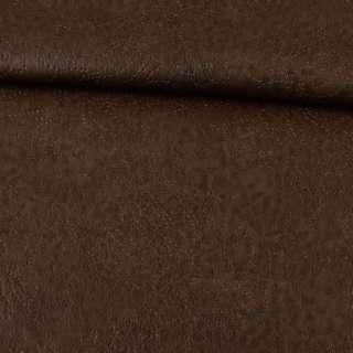 Кожа искусственная на флисе коричневая