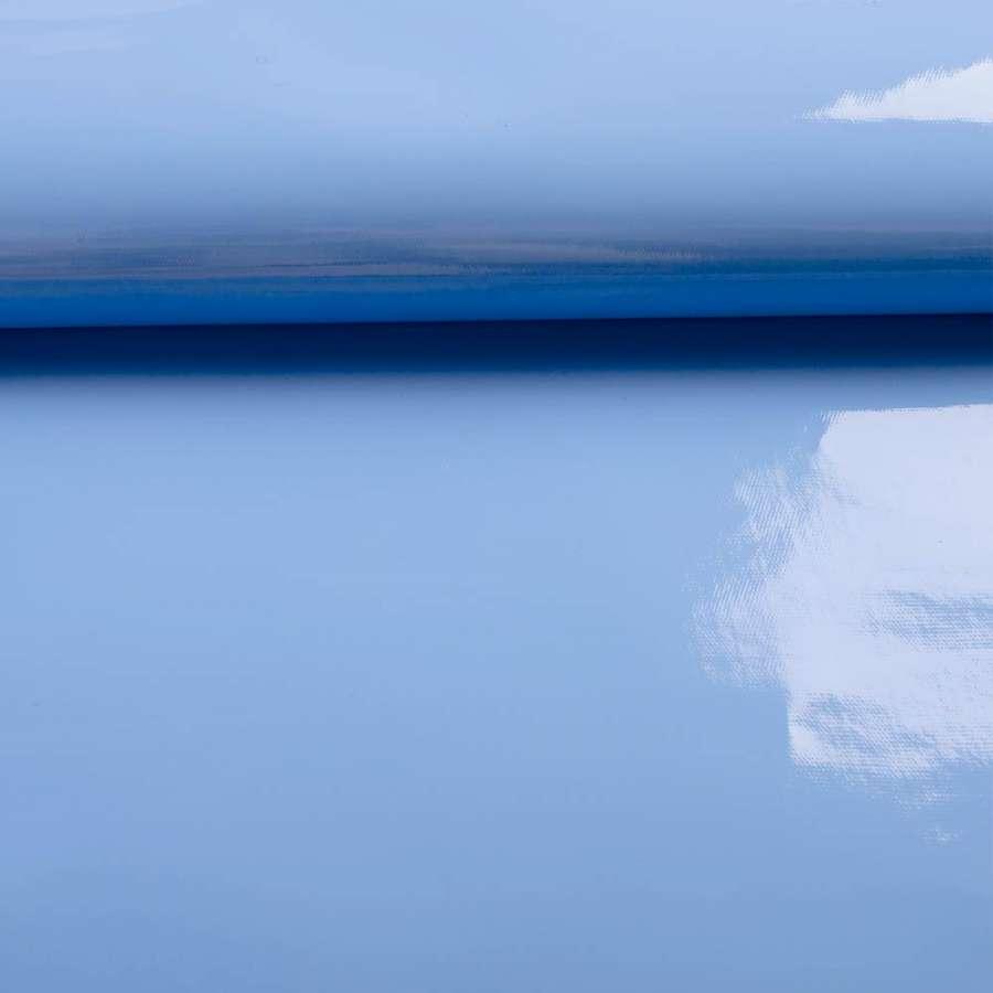 лаке голубое однотонное (0,3 мм.) ш.140 см.