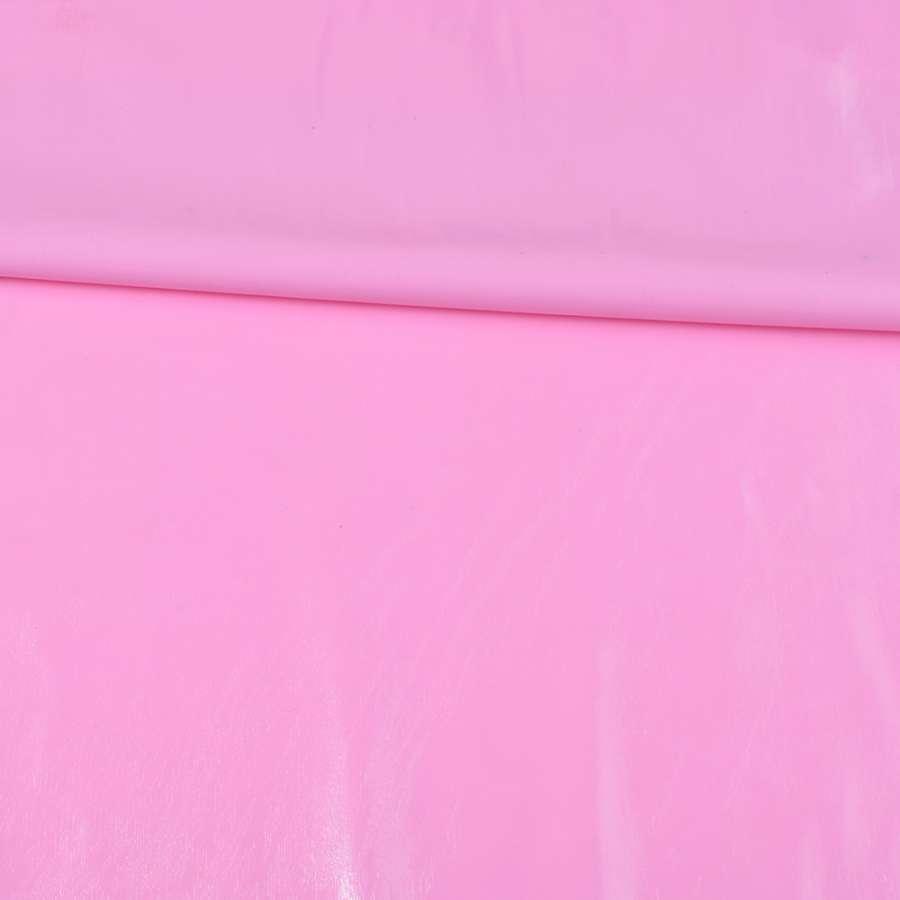 кожа лаке мягкая тонкая розовая, ш.140