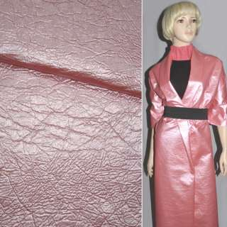 Шкіра штучна рожева матова на х/б основі, ш.150