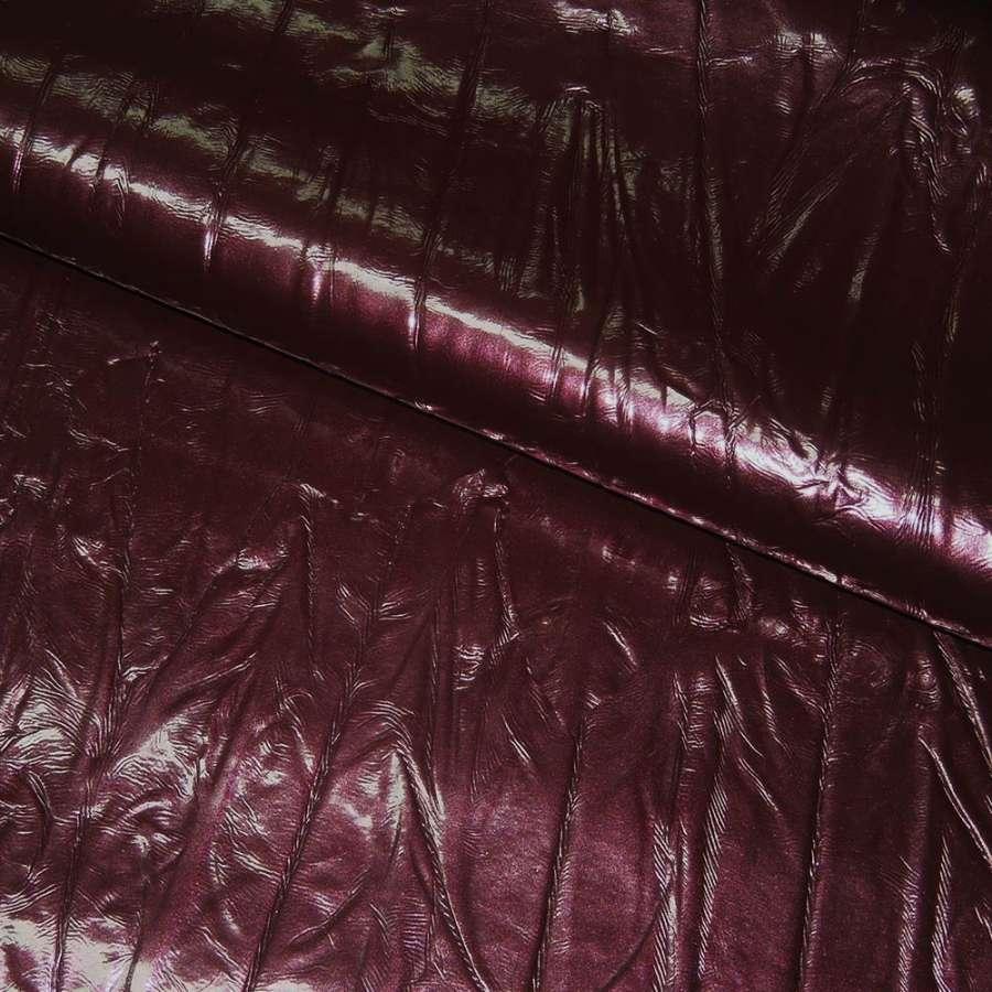 кожа иск. жатая лаке бордовая с перламутром, ш.150