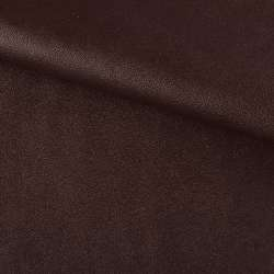 Кожа искусственная на флисе коричневая ш.140
