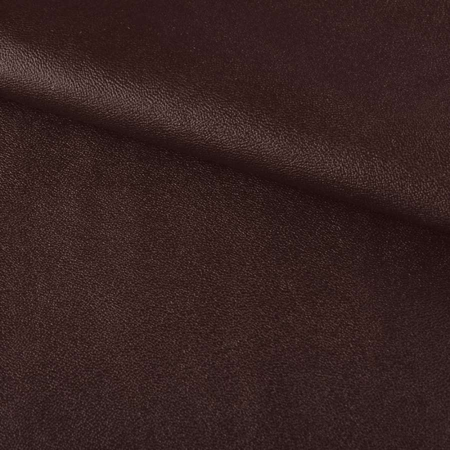 кожа искуст. на флисе коричневая ш.140