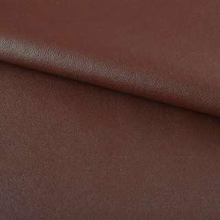 кожа искуст. на флисе коричнево-красная ш.140