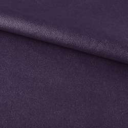 Кожа искусственная на флисе темно-фиолетовая ш.140