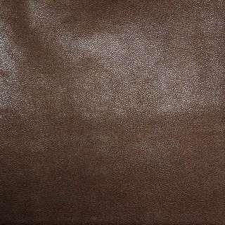 Шкіра штучна каштанова на флісі ш.140