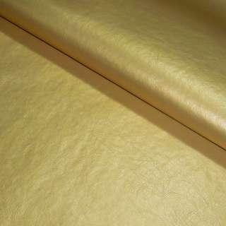 Кожа искусственная золотистая на флисе ш.140