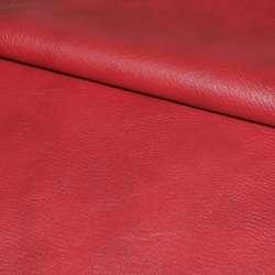 Кожа искусственная универсальная на флисе красная ш.145