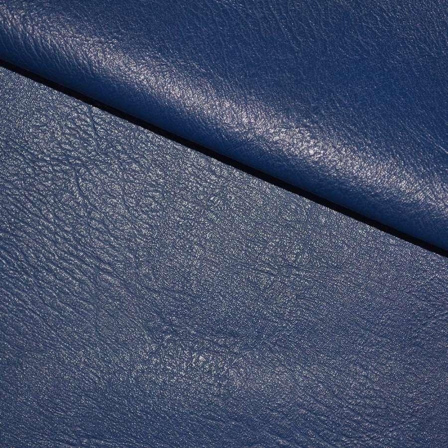 кожа искуств. универсальная на флисе синяя ш.145