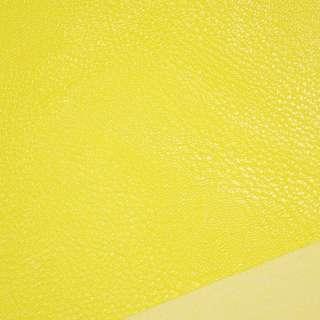 Кожа искусственная универсальная на флисе желтая ш.143