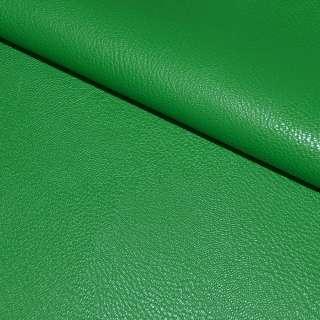 Кожа искусственная универсальная на флисе зеленая ш.142
