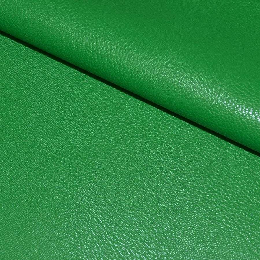 кожа искуств. универсальная на флисе зеленая ш.142