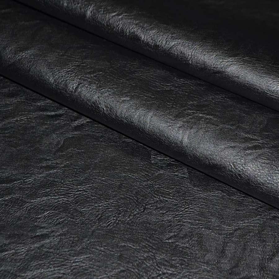 кожа искусст. черная на флисе ш.145