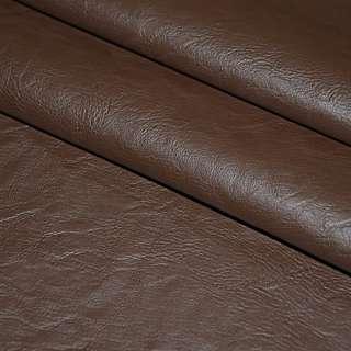 Кожа искусственная коричневая на флисе ш.140