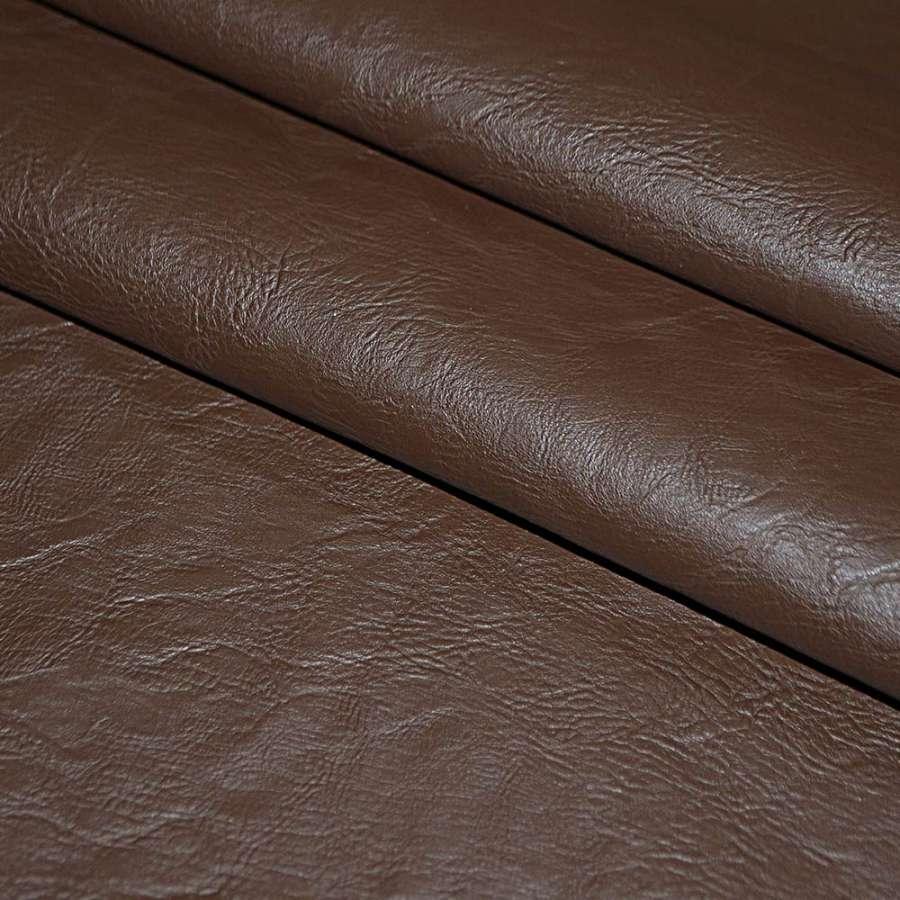 кожа искусст. коричневая на флисе ш.140