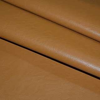 Кожа искусственная рыже-коричневая на флисе ш.140