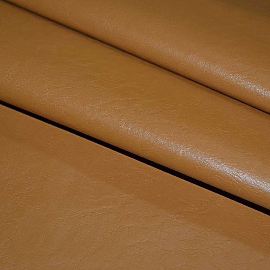 кожа искусст. рыже-коричневая на флисе ш.140