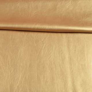 Кожа искусственная стрейч золотистая, ш.145