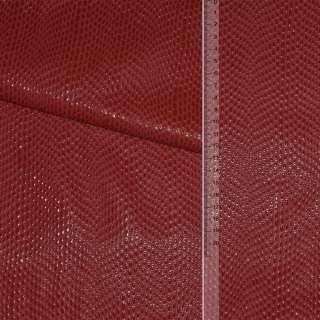 шкіра штучної вен. червона з краплями на флісі ш.140