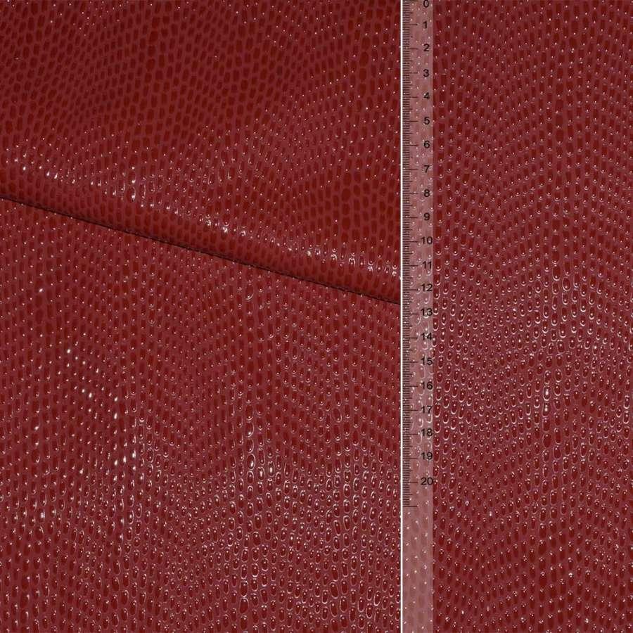кожа искусствен. красная с каплями на флисе ш.140