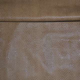 шкіра мистецтв. св. коричнева з краплями на флісі ш.140