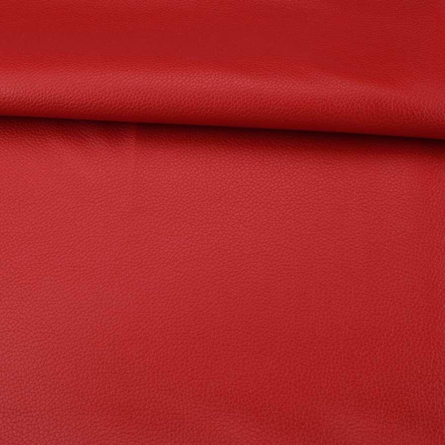 Кожа искусственная красная ш.145