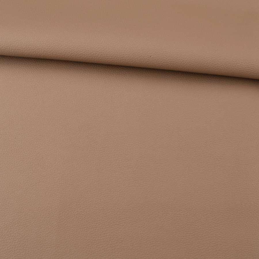 Кожа искусственная коричневая светлая матовая ш.136