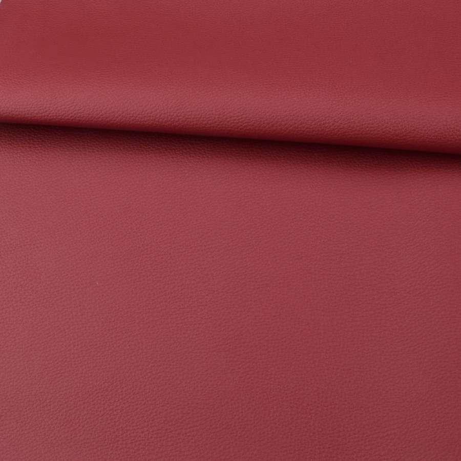 Кожа искусственная красная темная ш.140