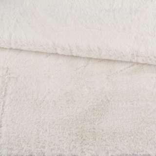 Мех искусственный кролик ворс 1см молочный ш.170