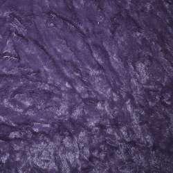 мех иск. фиолетовый жатый однотонный, ш.150