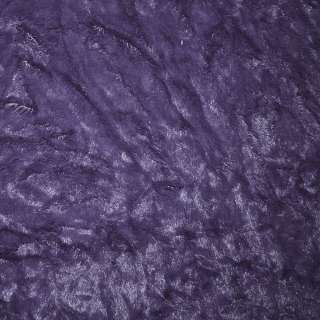 Мех искусственный фиолетовый жатый, ш.150
