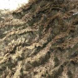 мех иск. коричнево-шоколадный жатый, ш.150