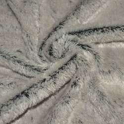 мех иск. молочно-серый на черной основе, ш.150