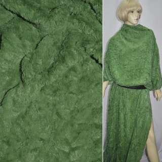 Мех искусственный зеленый
