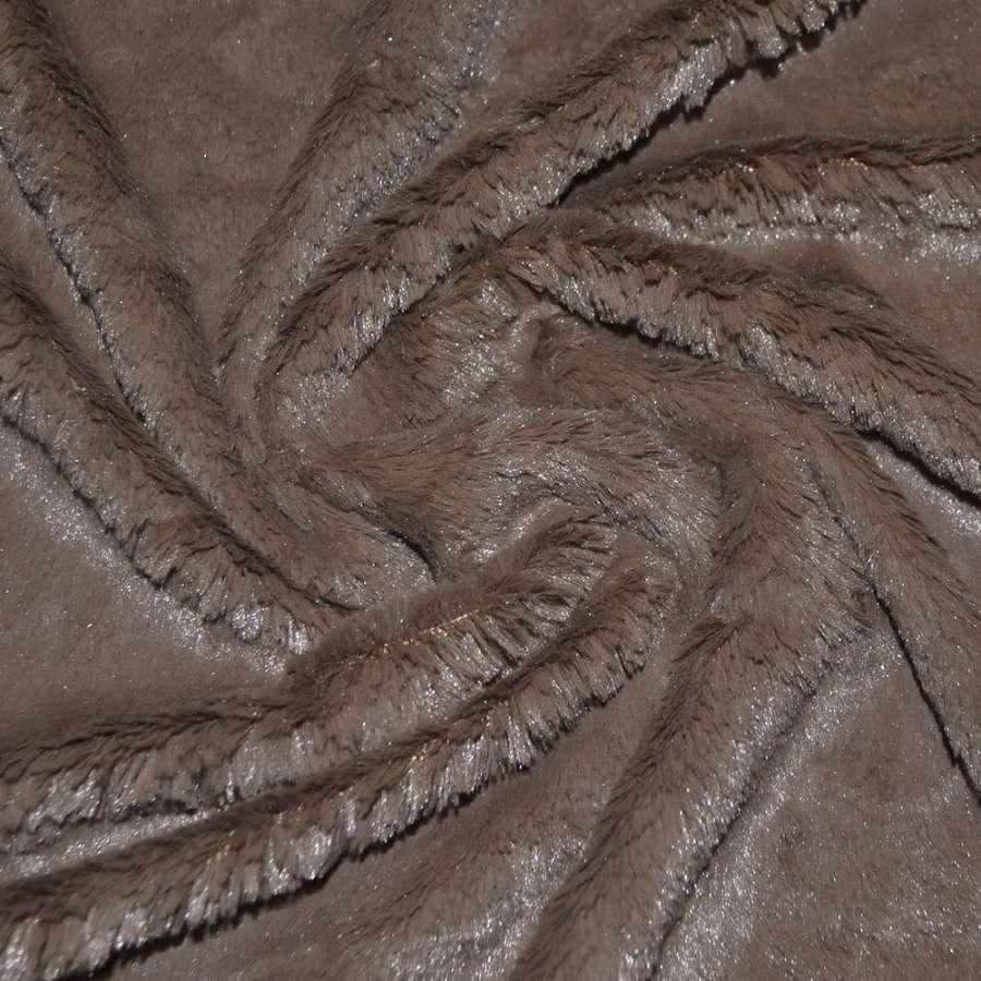 Мех искусственный кролик коричневый темный кролик