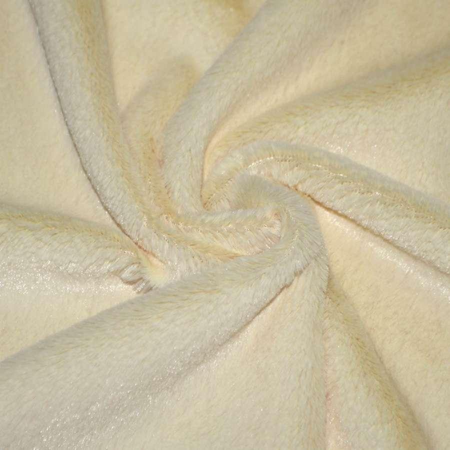 мех к/в бледно-желтый однотонный, ш.150